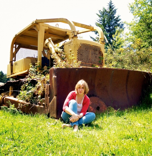 with the tractor 2