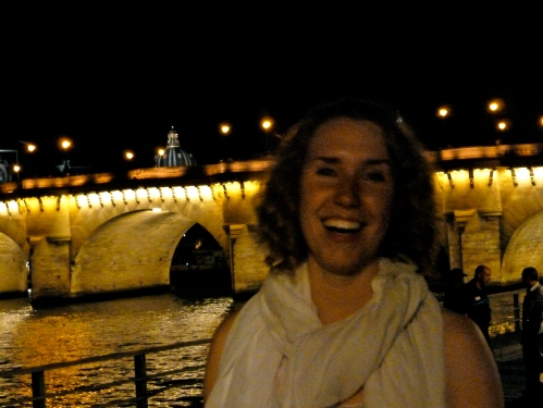 smiling by the seine