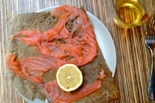 crêpe au saumon