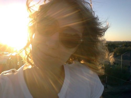 selfie sunset 9:25